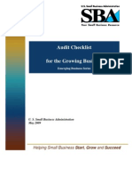 Audit Checklist for the Growing Business