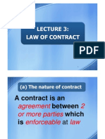 Lecture 3 - Law of Contract