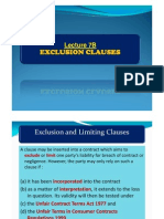 Lecture 7B - Exclusion Class