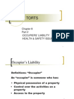 Lecture 8B - The Law of Tort (Occupiers' Liability)