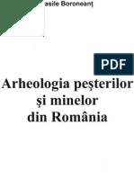 Boroneant Vasile Arheologia Pesterilor Si Minelor Din Romania