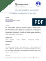 Peña Acuña, Beatriz - Cronología de la sociología de la comunicación