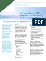 Exchange Troubleshooting for Admins Datasheet