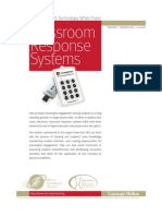 A Teaching with Technology White Paper - Classroom Response Systems