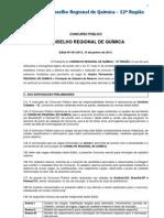 Conselho Regional de Química - 12ª Região-2013