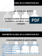 Barometro Globald e La Corrupcion 2013