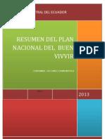 Resume Del Plan Nacional Del Buen Vivir