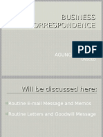 Session 8 Business Correspondence