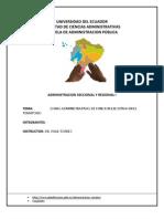 Zonas Administrativas de Funcion Ejecutiva en El Territorio