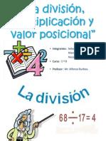 La división, multiplicación y valor posicional