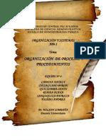 ORGANIZACIÓN DE PROCESOS Y PROCEDIMIENTOS