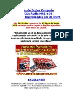 Curso de Ingles Completo Em MP3 + Apostilas