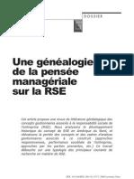 Une généalogie de la pensée managériale sur la RSE