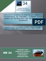 NR- 34 PARA ARESENTAÇÃO ATUALIZADO