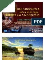 1. DR SOERJO Peluang Indonesia Mencapai Target MDGs