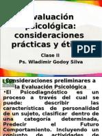 Clase 2 Evaluación psicológica consideraciones practicas y eticas