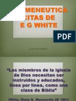 Hermeneutica Citas de e g White