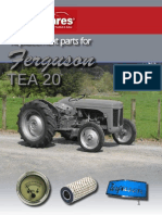 Ferguson TEA 20 Parts Book