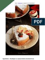 Retete culinare – Pandispan cu capsuni si unt caramelizat