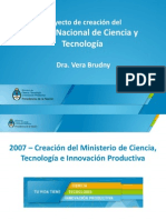 Presentación del proyecto del Museo de Ciencia y Técnica del MinCyT