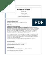 Resume-Maria Winstead