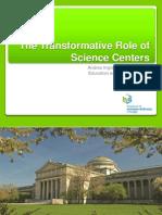 El papel transformativo de los centros de ciencia en educacion en ciencias