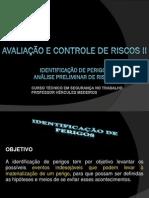 AULA 2 - ANÁLISE PRELIMINAR DE RISCOS