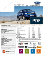 Ford Ranger 2.2L XLT MT 4x4 Price List_Sarawak