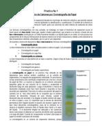 Práctica Nº 1 Separación de Cationes por Cromatografía de Papel