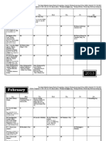 2013 Music and Worship Planning Calendar