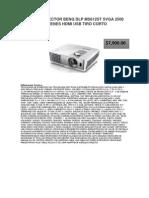 Videoproyector Benq Dlp Ms612st Svga 2500 Lumenes Hdmi Usb Tiro Corto