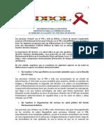 Propuesta de la Red Nacional de Personas Viviendo con el VIH y sida (REDBOL) para la Cumbre de Salud en Bolivia. Documento para la DISCUSIÓN