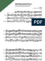 Brandenburg 3 for Quartet