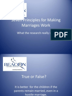Seven Principles for Making Marriages Work