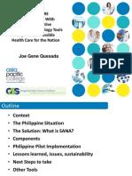 Health Tech Forum Manila Presentation of Sana July 16 2013