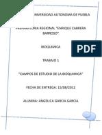 Campos de Estudio de La Bioquimica