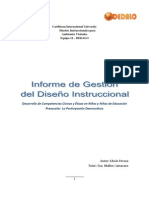 Informe de Gestión del Diseño Instruccional