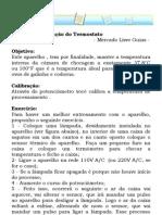 Manual de Instrução do Termostato