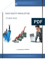 Free share Market Tips and Recommendations by-The-Equicom for 17-july 2013