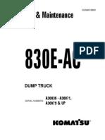 Manual de Operación 830EAC A30036 - A30071 CEAD018800