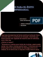CLAVES PARA EL ÉXITO EMPRESARIAL DIAPOSITIVAS OK
