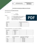 Memoria Calculo Instalaciones Electricas Impreso