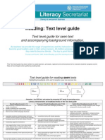 Reading Text Level Guide