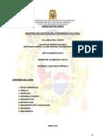 Syllabus Taller II Enfoques de la gestión del patrimonio2013-I