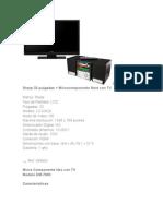 Combo LCD Sharp 32 Pulgadas