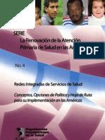 Redes Integradas Servicios Salud-Conceptos OPS