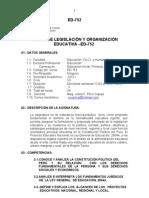 Silabo Legislacion 2012.i