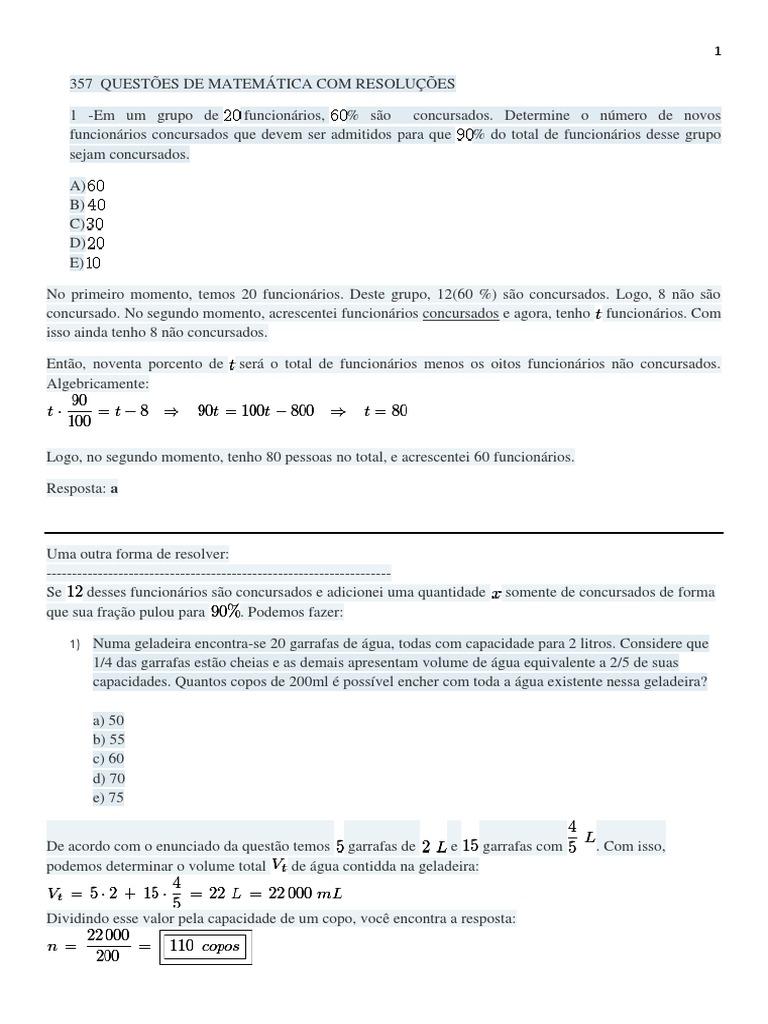357 Questões de Matemática com resolução passo a passo 621beba2bee