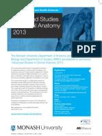 Clinical Anatomy Flyer 2013