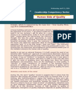 Human Side of Quality - Chandramowly April 21, 2004